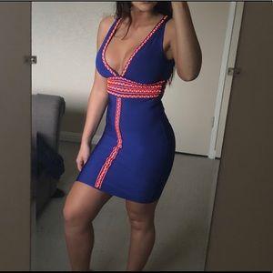 Bebe Neon Colored Bandage Dress